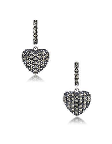 Lord & Taylor Sterling Silver Heart Hoop Earrings