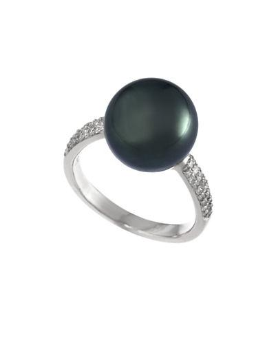Effy 10mm Grey Freshwater Pearl And 14k White Gold Ring