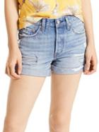 Levi's Premium Distressed Denim Shorts