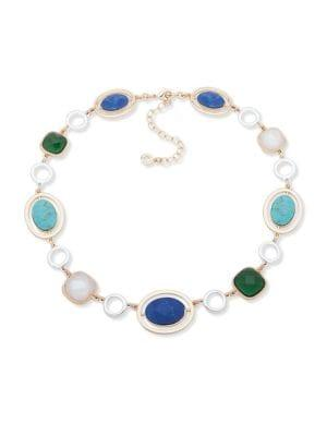 Anne Klein Two-tone & Crystal Collar Necklace