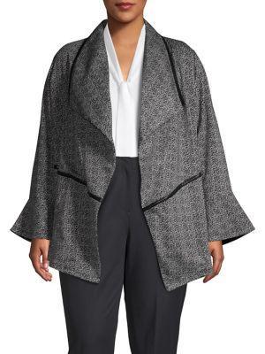Rafaella Plus Plus Plus Bell-sleeve Cardigan Jacket