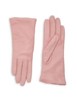 Lord & Taylor Leather & Cashmere Gloves