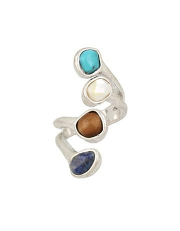 Robert Lee Morris Mother's Day Mother-of-pearl, Semi-precious Turquoise And Lapis Wrap Ring