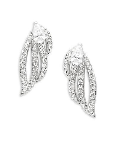 Nadri Cubic Zirconia And Silvertone Pave Earrings