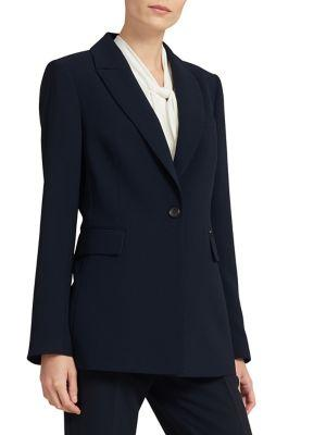 Donna Karan Single Button Long Blazer
