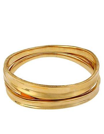 Robert Lee Morris Robert Lee Morris Gold-tone Bangle Bracelet Set