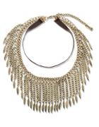 Steve Madden Leaf Collar Necklace