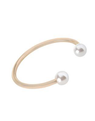 Bcbgeneration Pearl Perfect 12mm White Round Pearl Open-bangle Bracelet