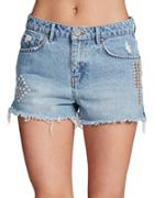 Unpublished Stella In Festival Cut-off Denim Shorts