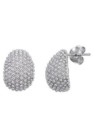 Lord & Taylor Sterling Silver 'j' Hoop Earrings