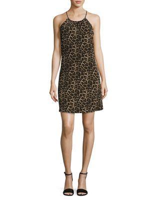 Michael Michael Kors Animal Print Halter Dress