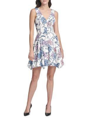 Kensie Dresses Floral Sleeveless A-line Dress