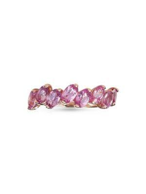 Marco Moore 14k Rose Gold & Pink Sapphire Ring