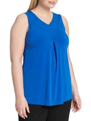 Calvin Klein Plus Plus Classic Sleeveless Top