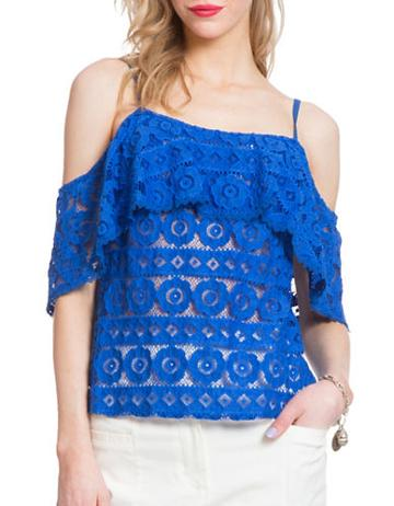 Plenty By Tracy Reese Lace Flirty Top