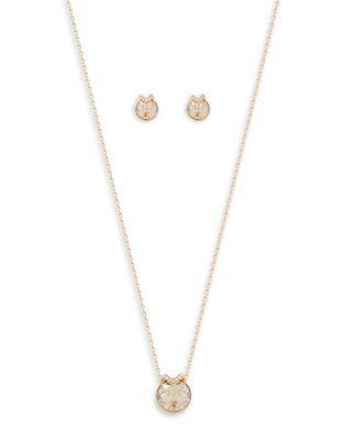 Swarovski Bella Crystals Pendant Necklace And Stud Earrings Set
