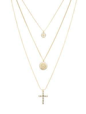 Design Lab Multi-strand Faux Pearl Pendant Necklace