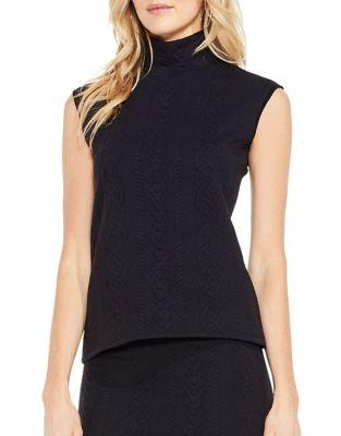 Vince Camuto Cable Turtleneck Tank Top