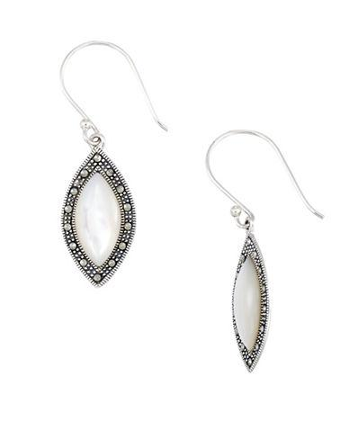 Lord & Taylor Mother-of-pearl Marquise Shaped Drop Earrings