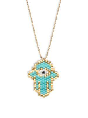 Design Lab Lord & Taylor Hamsa Pendant Necklace