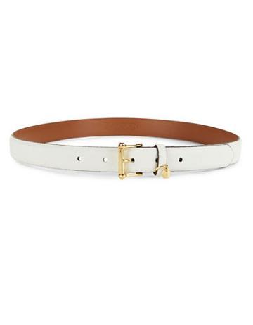 Lauren Ralph Lauren Monogram Charm Belt