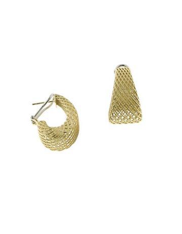 Roberto Coin 18k Yellow Gold Dome Drop Earrings