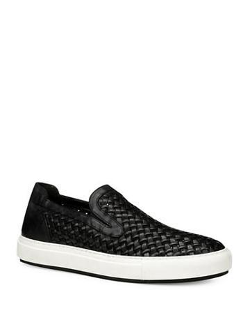 Donald J. Pliner Woven-upper Flatform Sneakers