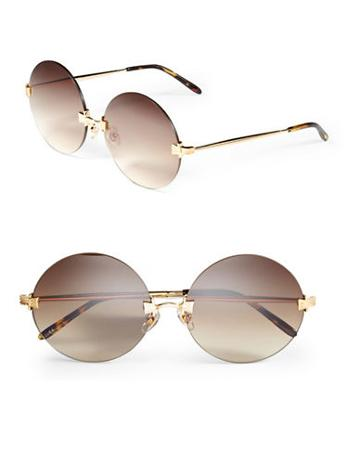 Wildfox 56mm Pearl Round Sunglasses