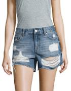 Vigoss Distressed Cutoff Denim Shorts