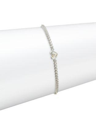 Swarovski Subtle Heart Crystal Charm Bracelet