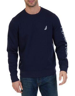 Nautica Logo Print Sleeve Sweatshirt