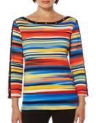 Rafaella Striped Cotton Top