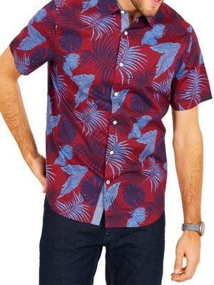 Nautica Classic-fit Stretch Oxford Printed Shirt