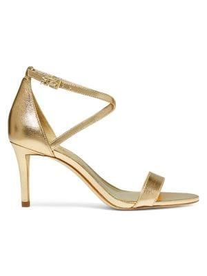 Michael Michael Kors Ava Metallic Leather Sandals