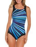 Reebok One-piece Printed Swimsuit