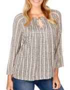 Lucky Brand Printed Roundneck Top