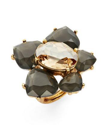 Oscar De La Renta Floral Statement Ring