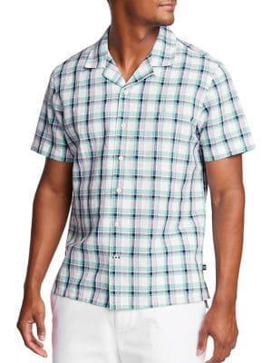 Nautica Short Sleeve Plaid Shirt