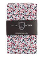 Black Brown Draper Floral Pre-folded Pocket Square