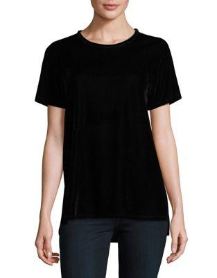Two By Vince Camuto Velvet Roundneck Tee