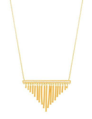 Lord & Taylor Sterling Silver Tassel Pendant Necklace