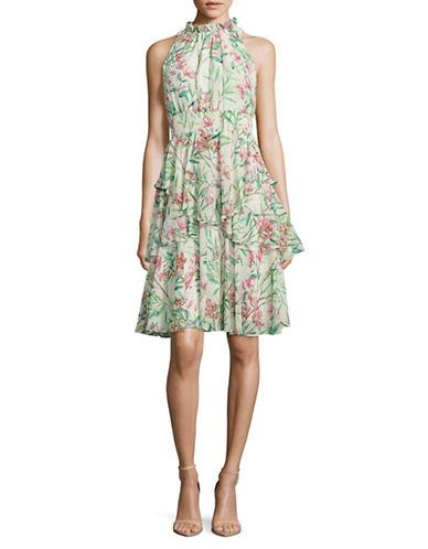 Eliza J Floral Ruffled Dress