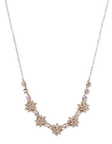 Marchesa Faux Pearl Pendant Necklace