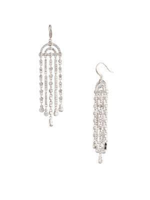 Carolee Crystal Coves Crystal Fringe Drama Chandelier Earrings
