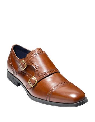 Cole Haan Montgomery Double Monk-strap Leather Oxfords