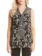 Karen Kane Floral Sleeveless Top