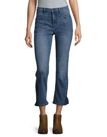 Buffalo David Bitton High Rise Cropped Flare Jeans