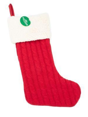 Kurt S. Adler Cable-knit Stocking