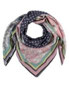Fraas Patchwork Floral Square Scarf