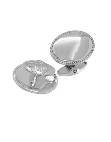 Dolan Bullock Stainless Steel Textured Oval Cufflinks